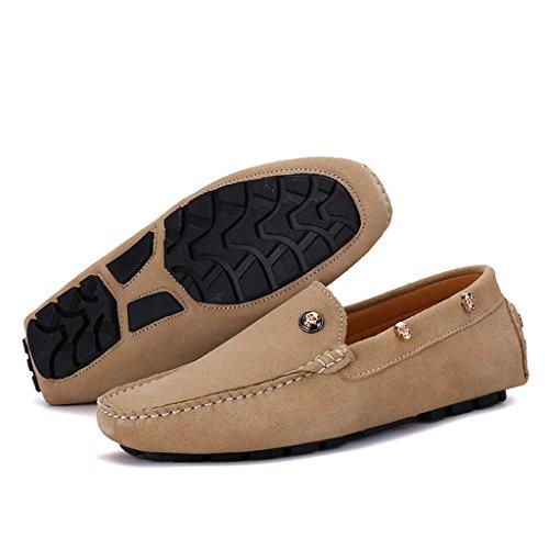 Eagsouni® 2kaki Penny daim Mocassins Chaussures Ville Loafers Hommes Flats Bateau de Casual rqPraZx