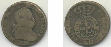 Portugal 1823 40 Reis, KM-371