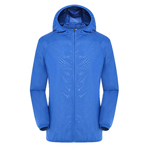 (Mr.Macy Men's Women Casual Jackets Windproof Ultra-Light Rainproof Windbreaker Top)