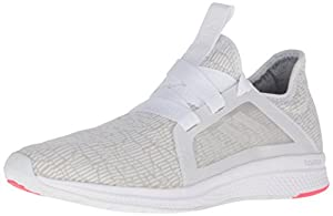 adidas Women's Edge Lux W Running Shoe, White-Crystal White-Shock Red, 6.5 M US