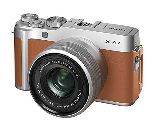 Fujifilm X-A7BW Mirrorless Digital Camera with 15-45mm Lens Variable, megapixels - Camel