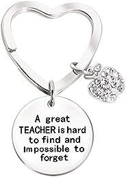 Llavero de maestro para regalo para mujer de agradecimiento de profesor, gran maestro es difícil de encontrar