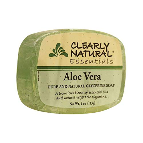 Clearly Natural Essentials Aloe Vera Pure and natural glycerine soap 4 - Bar Moisturizing Clearly Soap Natural