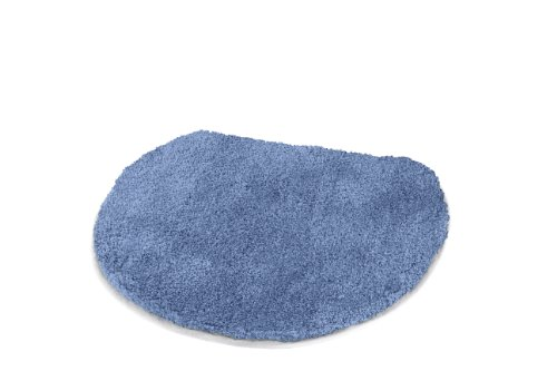 Elongated Lid Rug Cover with a draw string Fit lids 17 to 18.5 in long - Toilet Seat Covers - (W) 18.5in X (L) 19.7in (Azure Blue)