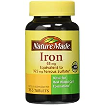 Nature Made Iron 65 mg., 365 Tablets