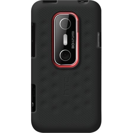 HTC Silicone Smerge for HTC EVO 3D - Retail Packaging - Black