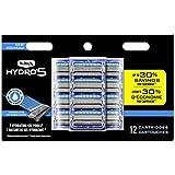 Schick Hydro Sense Hydrate Mens Razor Blade Refill with Hydrate Gel, Includes 12 Razor Blades Refills