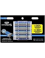 Schick Hydro 5 Sense Hydrate Razor Refills for Men, Pack of 12