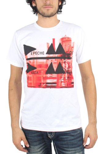 Depeche Mode - Mens Delta Machine Fitted T-Shirt in White, X-Large, White ()