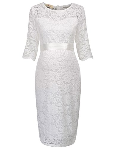 ivory lace bridal shower dress - 7