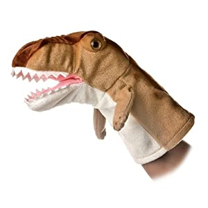 "t rex puppet - 10"" - 41CPa1AJ6hL - Aurora World Hand Puppet Plush T Rex Dinosaur, 10″ – 32026"