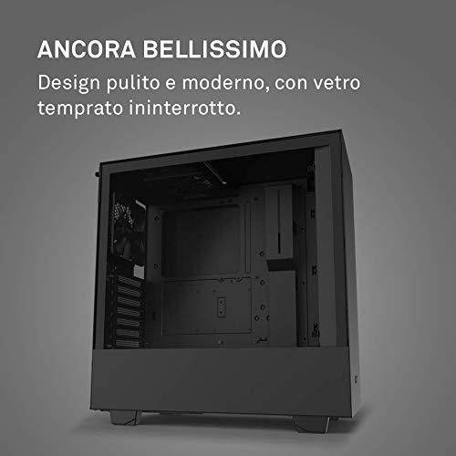 NZXT H510 - Case da gioco per PC mid-tower ATX compatto - Porta Tipo C USB I/O frontale - Pannello laterale in vetro temperato - Compatibile con il raffreddamento a Liquido