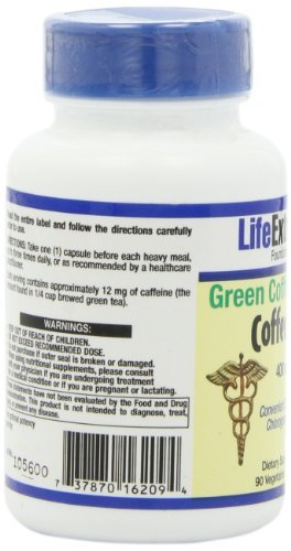 CoffeeGenic Green Coffee Extract 400 mg - 90 - VegCap (Pack of 3) by Life Extension (Image #8)