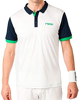 NOX Polo Pro Blanco con Logo Verde (XL): Amazon.es: Deportes y ...