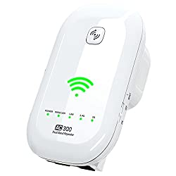 NEW 2018 Wifi Extender 300 Mbps with WPS Button for Easy Set Up - Internet Booster Signal Extenders Wireless Repeater 2.4GHz Up to 300 Mb - Best Range Network Plug-In - Full Coverage - 33 ft Range