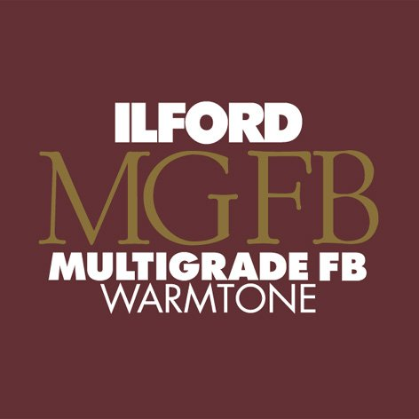 Ilford Multigrade FB Fiber Based Warmtone VC Variable Contrast Black & White Enlarging Paper - 8x10'' - 100 Sheets - Glossy Surface by Ilford