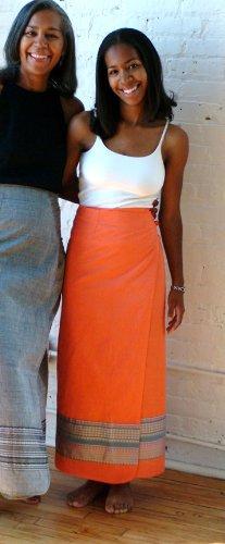 Salmon Wrap Around Skirt