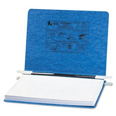 Pressboard Hanging Data Binder, 12 x 8-1/2 Unburst Sheets Color: Light Blue