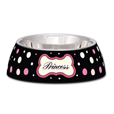 Loving Pets Princess Polka Dot Milano Bowl for Dogs and Cats, Small