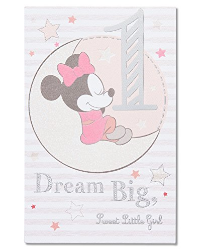 American Greetings Minnie Mouse 1st Birthday Card for Girl
