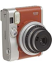 Instax Mini 90 Brown Bundle w/1 Assorted Film & Accessories