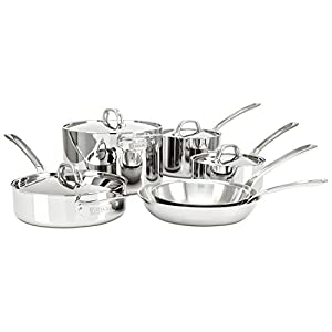 Viking 3 Ply Stainless Steel Cookware Set, 10 Piece
