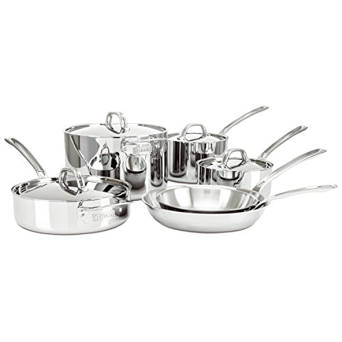 Amazon.com: Viking 3 Ply Stainless Steel Cookware Set, 10 Piece: Kitchen U0026  Dining