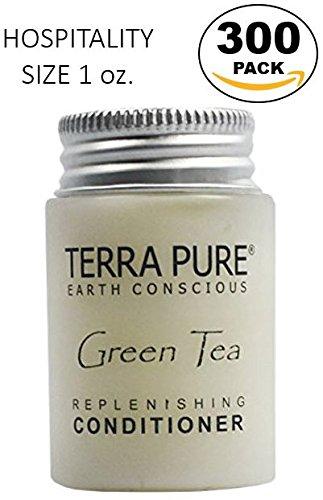 Terra Pure Green Tea Conditioner, 1 oz. In Jam Jar With Organic Honey And Aloe Vera (Case of - Case Green Honey