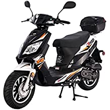 SMART DEALSNOW brings Brand new Tao Tao Thunder 50 Gas Street Legal Scooter with matching trunk - Sporty Black