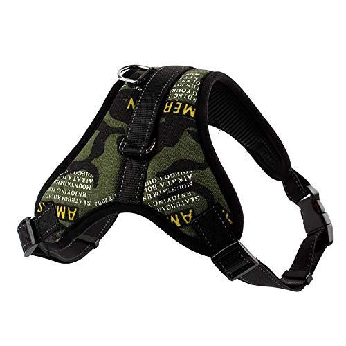 YAJAN-Dog Harness Arnés para Perro, Chaleco Acolchado para el Cuerpo del Perro, cinturón de Seguridad Ajustable, Control de...