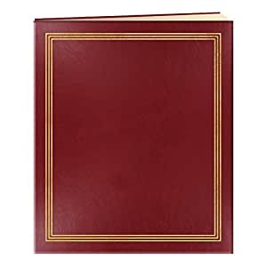 """Pioneer Jumbo Family Memory Album, 11 3/4x14"""" Scrapbook with 50 Archival Buff Colored Pages, Burgundy Covers"""