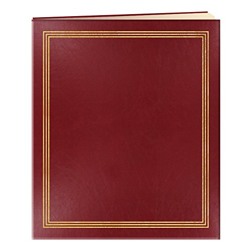 Pioneer Jumbo Family Memory Album, 11 3/4x14'' Scrapbook with 50 Archival Buff Colored Pages, Burgundy Covers by Pioneer