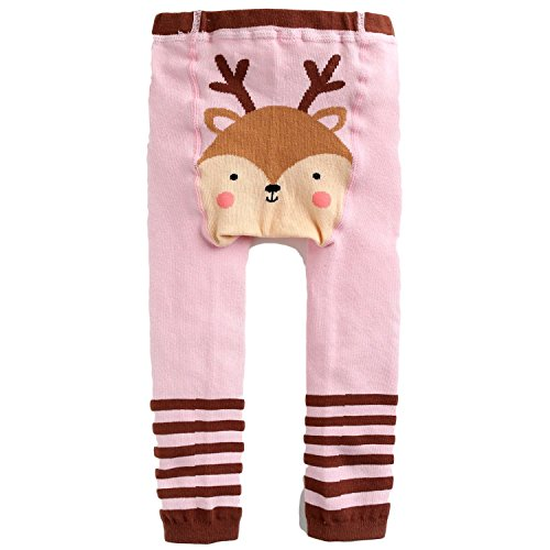 Price comparison product image Ollie Arnes Infant Unisex Adorable Cute Tights Made From Premium Cotton 16_PINK 12-24M