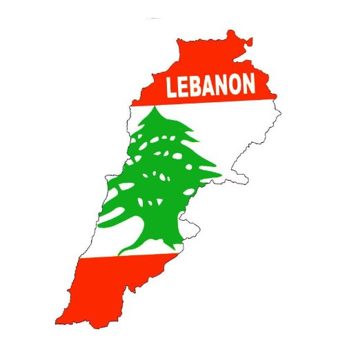 Temporary Body Face Country Flag Map Tattoo Stickers Water Transfer Party Tattoos (Lebanon)