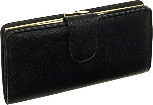 Mundi Womens Suburban Rio Checkbook Safe Keeper RFID Clutch Wallet (Black)