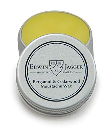 EDWIN JAGGER Bergamot and Cedarwood Mustache Wax Pomade Tin 15ml 0.5fl oz