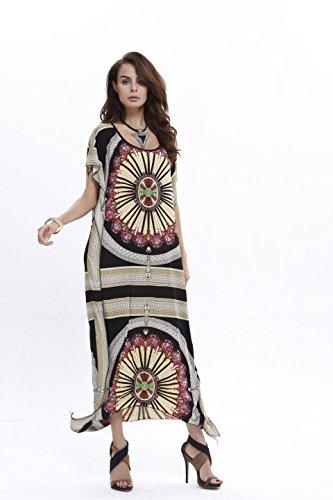 b052e0bc3f Women Long Chiffon Kimono Boho Hippy Kaftan Caftan Swim Bikini Cover Up  Printed Floral Swimwear Beachwear Holiday Maxi Beach Dress - Landove - Buy  Online in ...