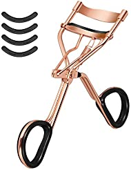 Eyelash Curler with with 4 Pcs Refill Pads, Spring Loaded...