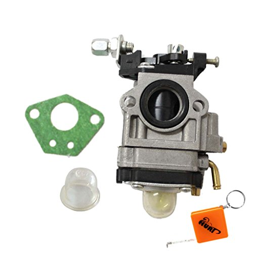 (HURI Carburetor with Primer Blub Gasket for Super Razorback 43cc 49cc V1 V2 V3 Engine Motovox MVS10 Gas Powered)