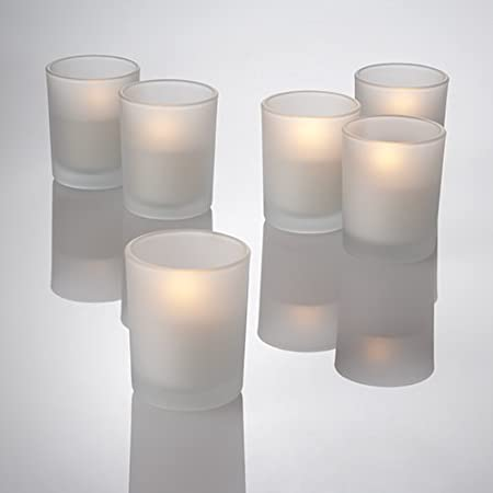 Set of 12 Clear Eastland® Glass Votive Candle Holders Quick Candles CA_1100_12