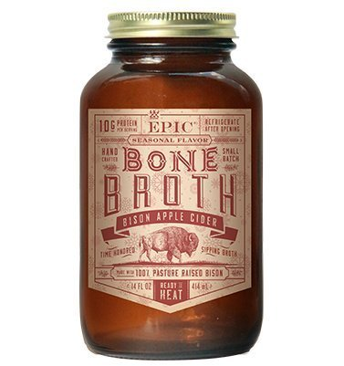 Epic Artisanal Sipping Bone Broth (Bison Apple Cider, 6-Pack)