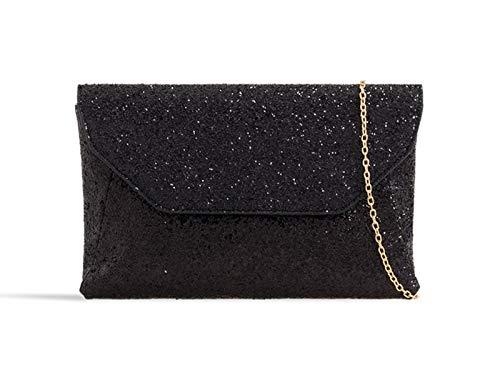 Clutch 376 Fashion Women's Party LeahWard Gillter Bags Black Body Cross Bags qTp1wEwxB