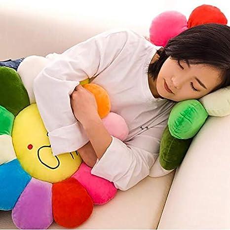 16inch seat cushion Cuscino A Forma di Fiore,Modello Sorriso Grande Morbido Cuscino Sedile per I Bambini Lettura Camera Decorazione Cuscino Meditazione-a Diametro40cm