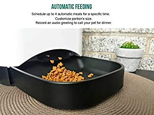 Automatic Pet Feeder by FEED'EM | Food Dispenser for Cat & Dog - HD Video Camera, 2-way Voice Interaction, Battery Backup, Easy Connection, Smartphone Application for IOS & Android, 4.5 Litres (Color: White)