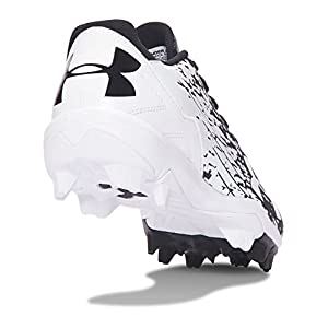 Under Armour Boys' Boys' Leadoff Low RM Jr, Black/White, 4 M US Big Kid
