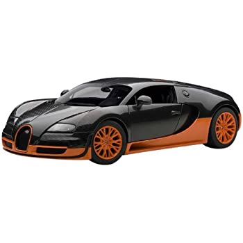 Autoart 1/18 Bugatti Veyron Super Sport (Carbon Black / Orange)