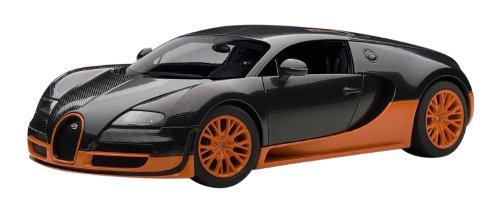 Autoart 1/18 Bugatti Veyron Super Sport (Carbon Black / Orange)