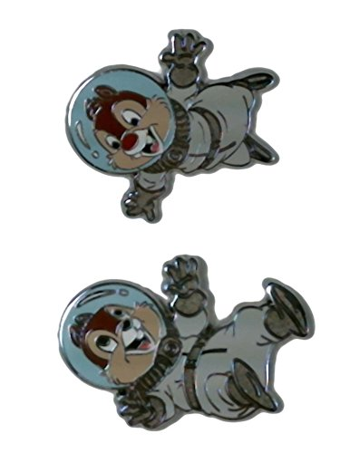 Disney Pin Chip & Dale Astronauts - 2 Pin Set -