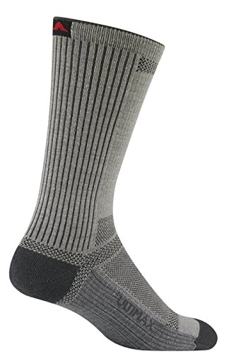 Wigwam Men's Ultra Cool-Lite Ultimax Ultra-Lightweight Crew Sock,Grey,Large/shoe Size:Men's 9-12,Women's (Ultralight Mens Socks)