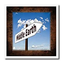Florene - Signs - Print of Fun Middle Earth Sign With Arrow - 6x6 Iron on Heat Transfer for White Material (ht_204355_2)